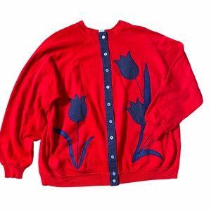 Tultex | Vintage Women's Redone Sweatshirt Size 3X